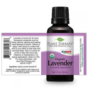 Plant Therapy Lavender Organic Essential Oil Stretch
