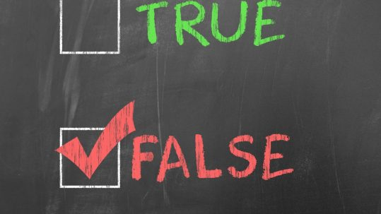 CBD Facts and Fiction - True or False chalkboard